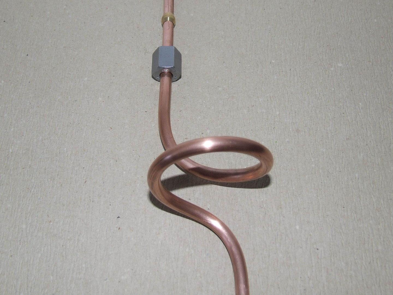 6mm Benzinleitung aus Kupfer mit M12 Muttern
